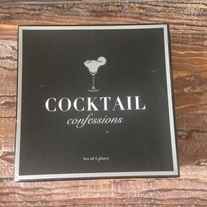 Z Gallerie Boxed Set 4 Cocktail Confession Plates
